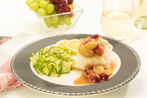White Fish With Grapes