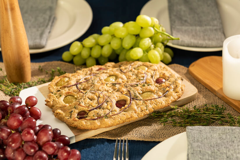 Thyme Focaccia With Grapes